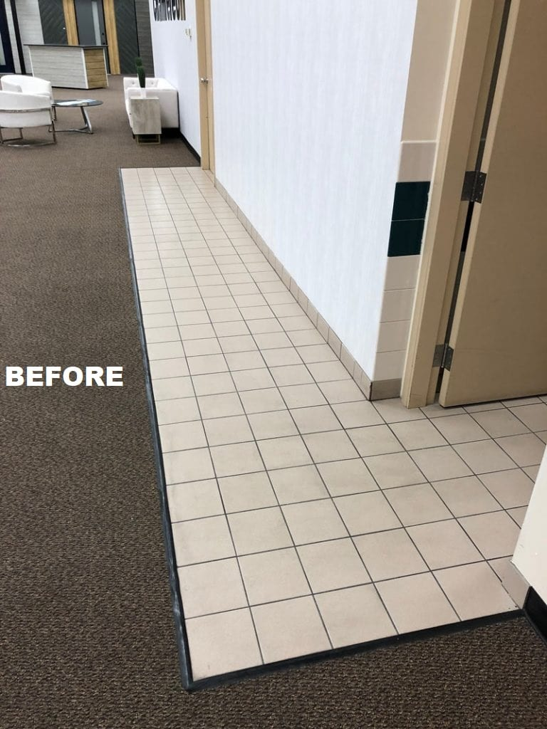 Epoxy Flooring in Edmonton - Before implementation