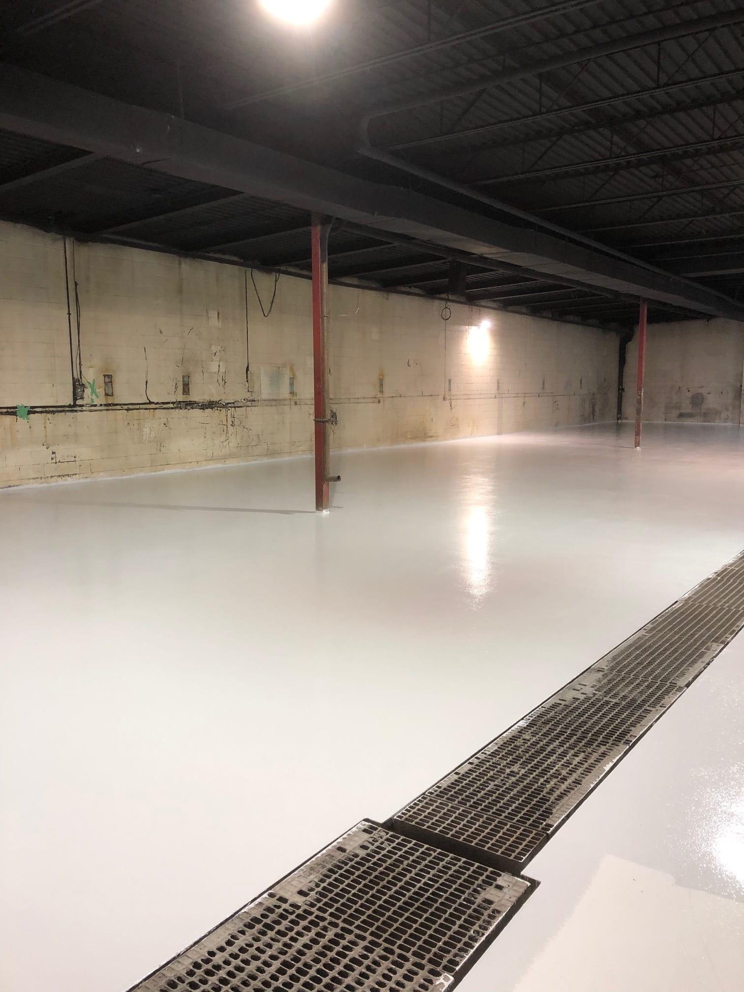 RexCoat seamless epoxy flooring - white epoxy flooring