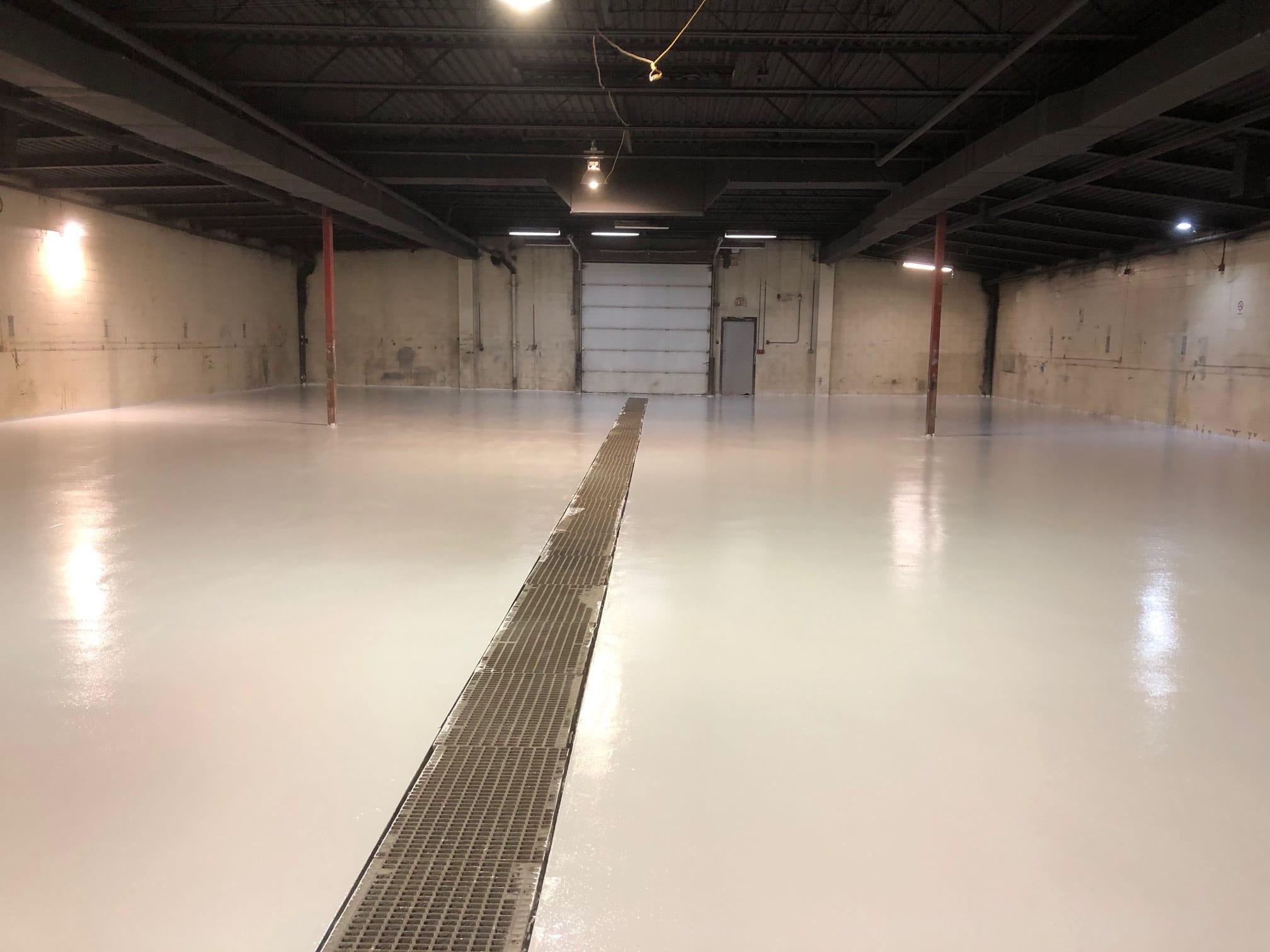 Epoxy Flooring in Edmonton - warehouse